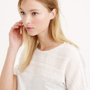 J. Crew Tops - 💕J Crew embroidered gray knit top